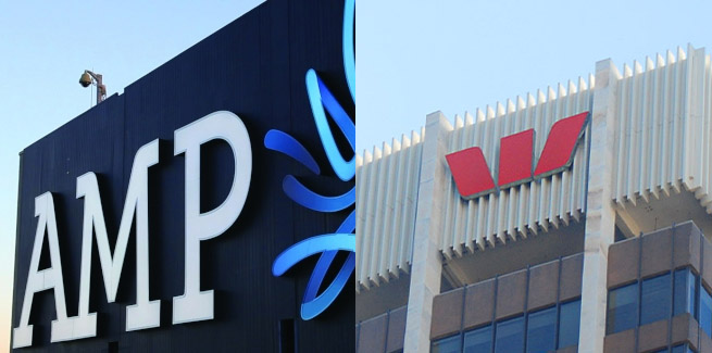 AMP and Westpac