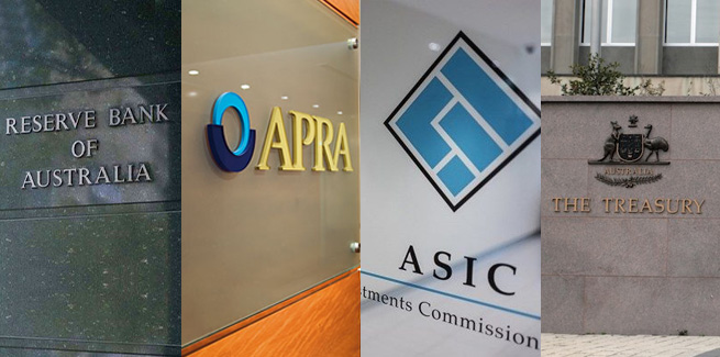 RBA APRA ASIC Treasury